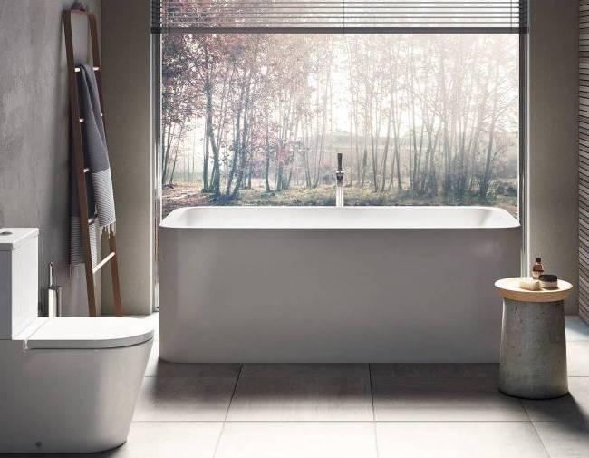 Minimalistyczny wystrój łazienki - Roca