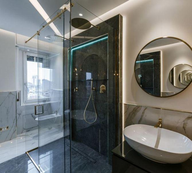 Luksusowa łazienka w aranżacji Panaria Ceramica