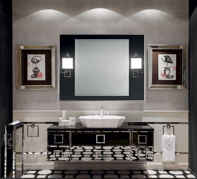 Stylowa czarno-biała łazienka Oasis Group