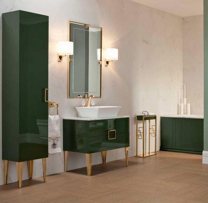Nietypowy kolor – ciemnozielona łazienka Oasis Group