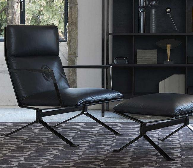 Elegancki fotel z podnóżkiem Heritage