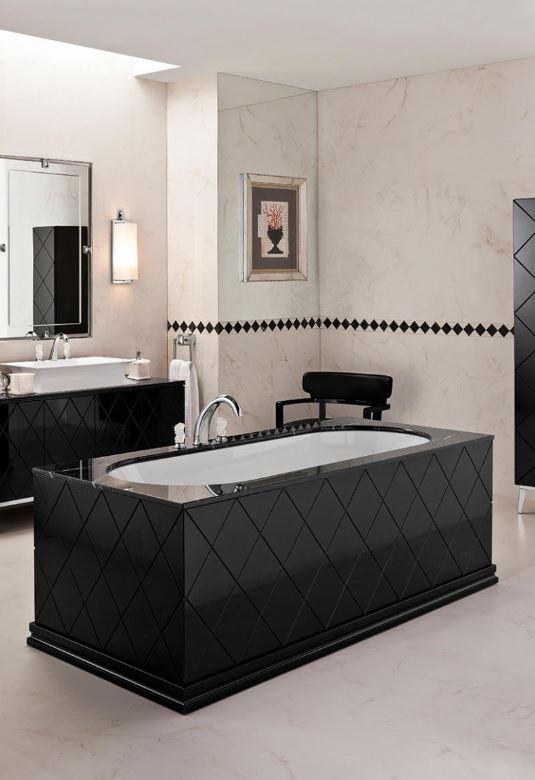 Kontrastowa łazienka Oasis Group