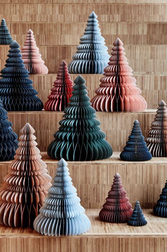Papierowe choinki dekoracyjne Broste Copenhagen