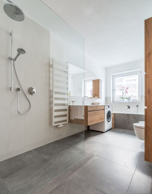 Minimalistyczna łazienka – aranżacja Panaria