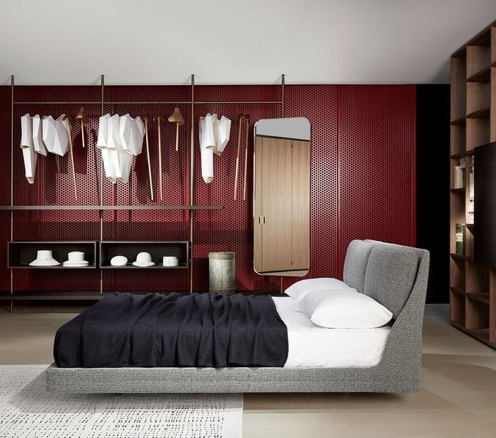 Sypialnia z otwartą garderobą Porro