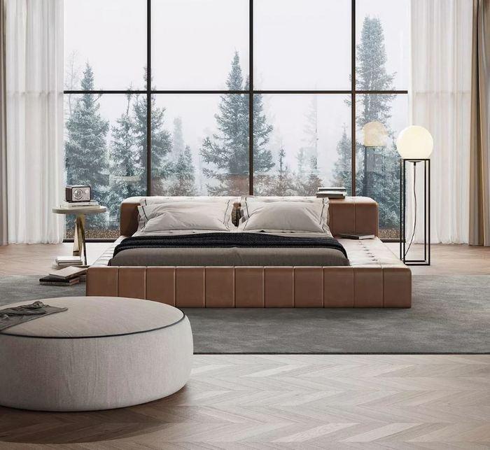 Tapicerowane łóżko Laskasas