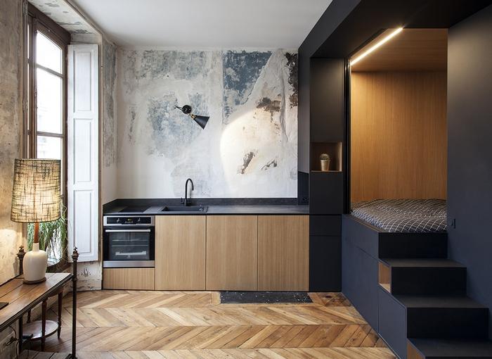 Kreatywne mieszkanie w Paryżu / http://batiik.fr