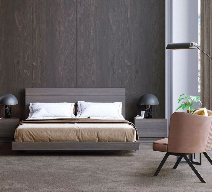 Drewniane łóżko Laskasas