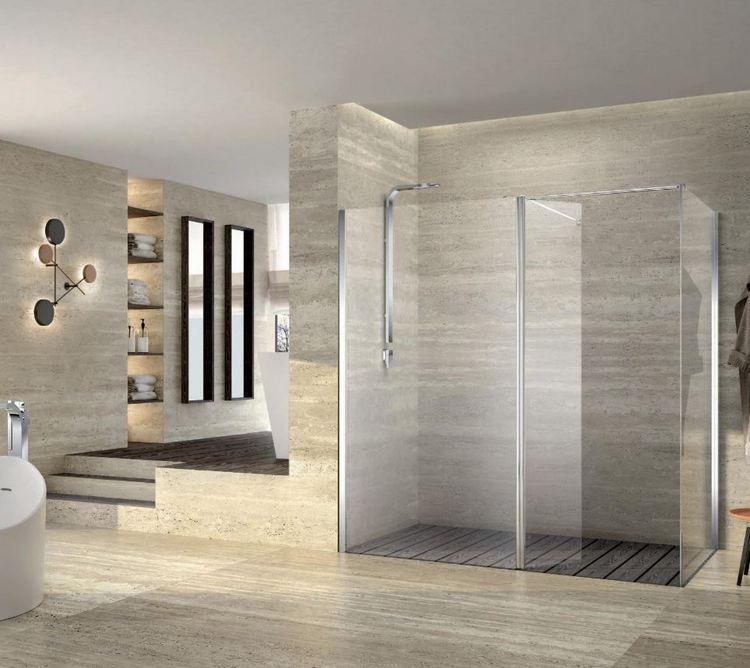 Maksymalistyczna kabina prysznicowa Duka