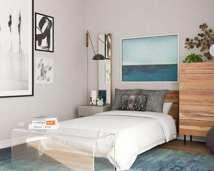 Mała sypialnia / blog.modsy.com