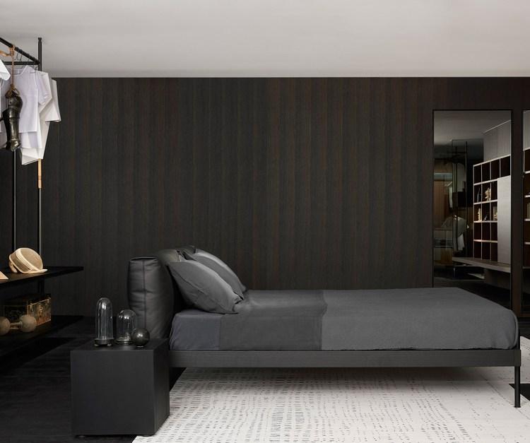 Eleganckie minimalistyczne łóżko Porro