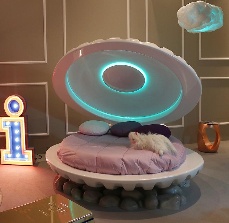Łóżko w kształcie muszli Circu