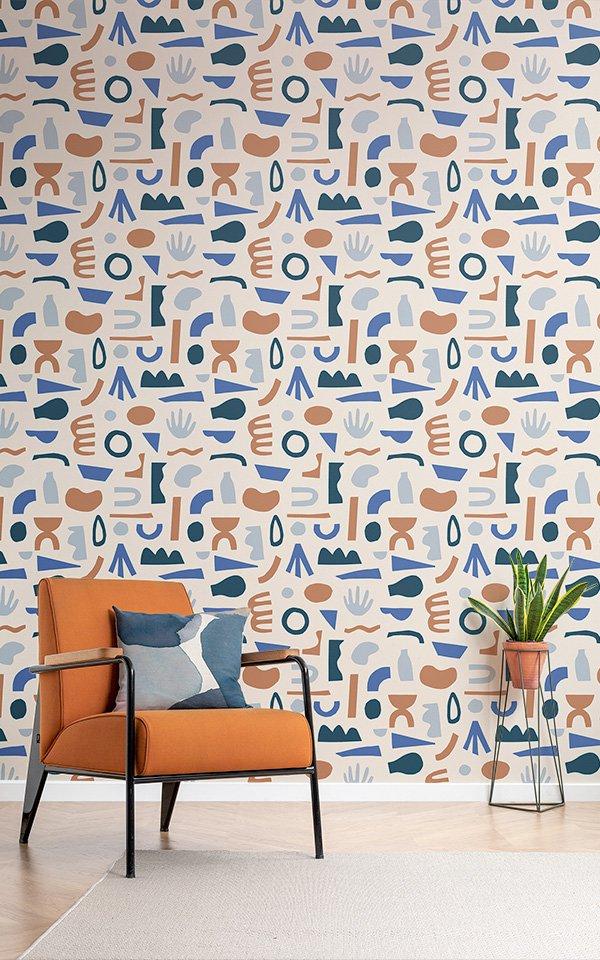 Designerskie tapety w kolorowe wzory, MuralsWallpaper