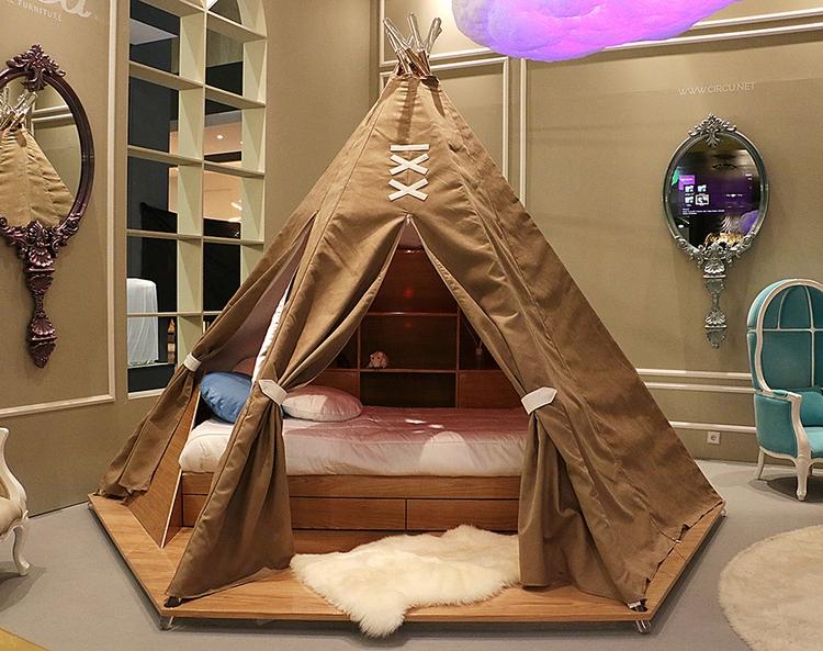 Łóżko w kształcie indiańskiego namiotu Circu