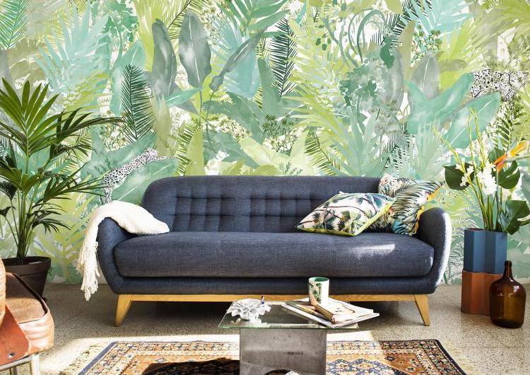 Botaniczne tapety do salonu Coordonné