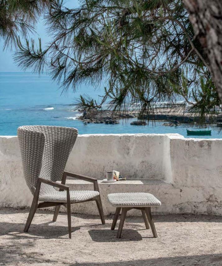 Wysoki fotel outdoorowy Ethimo