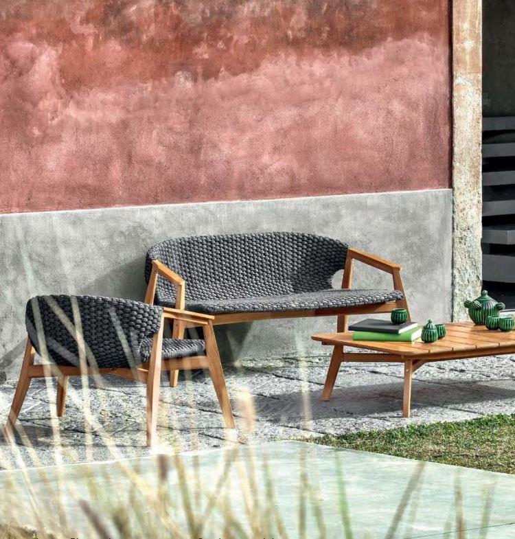 Kanapa ogrodowa w zestawie z fotelem Ethimo