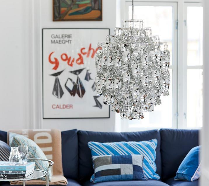 Zdobna lampa salonowa Verpan