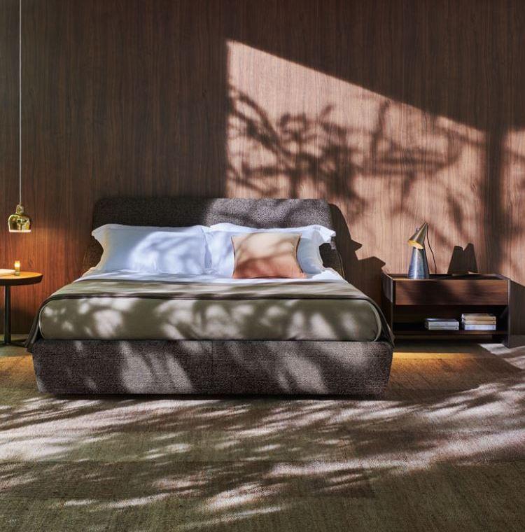 Sypialnia w ciemnej tonacji Molteni & C