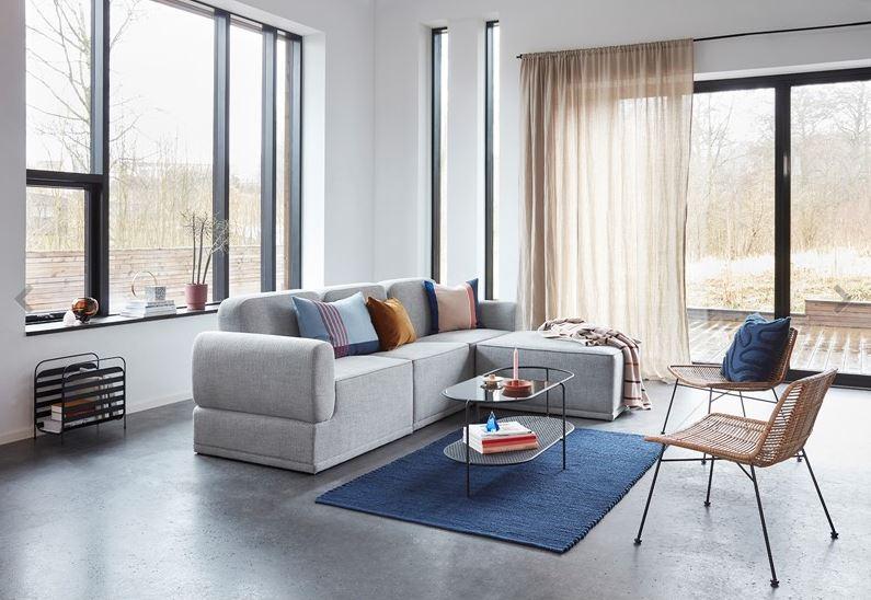Salon w stylu skandynawskim Hubsch