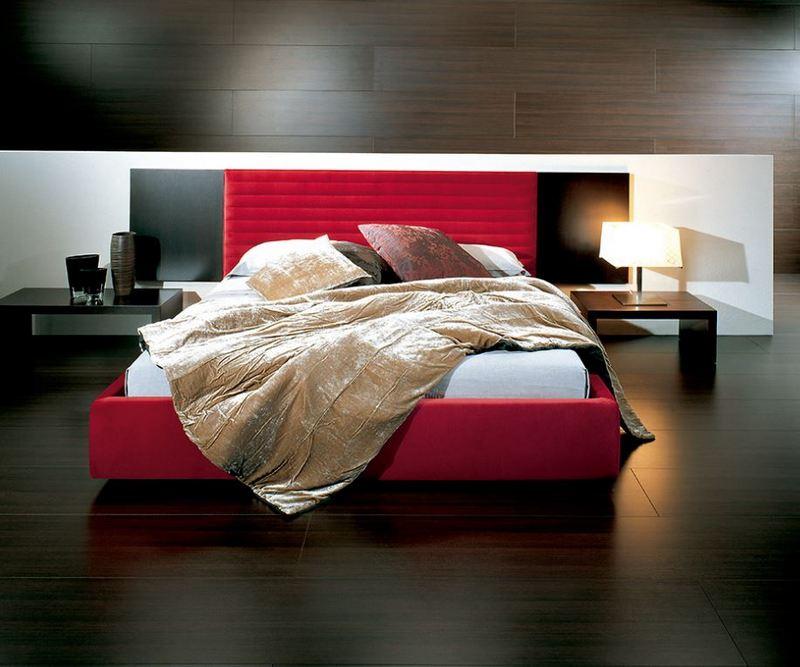 Czerwone łóżko Casa Desus