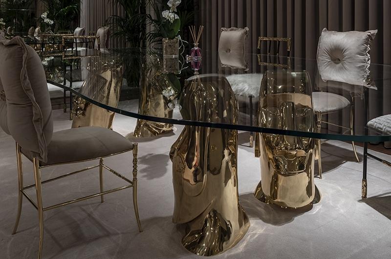 Złocone nogi od stołu Bessa Design