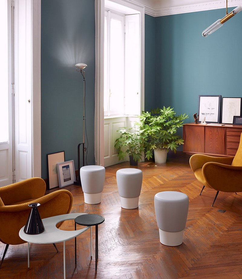 Nowoczesne stołki salonowe Slide Design