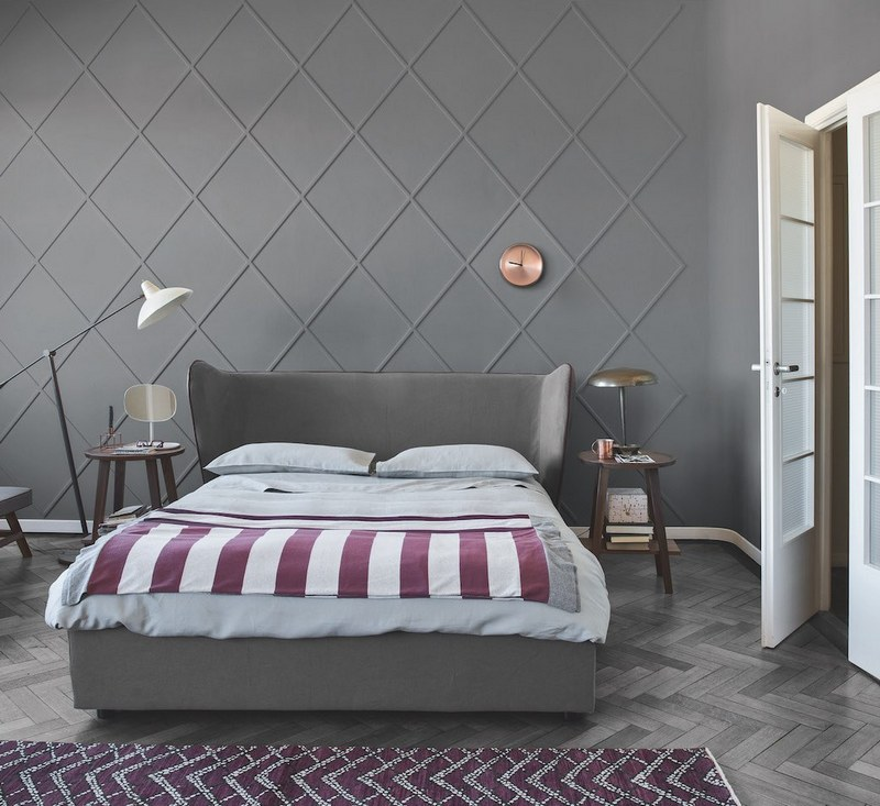 Nowocześnie designerskie łóżko Gervasoni