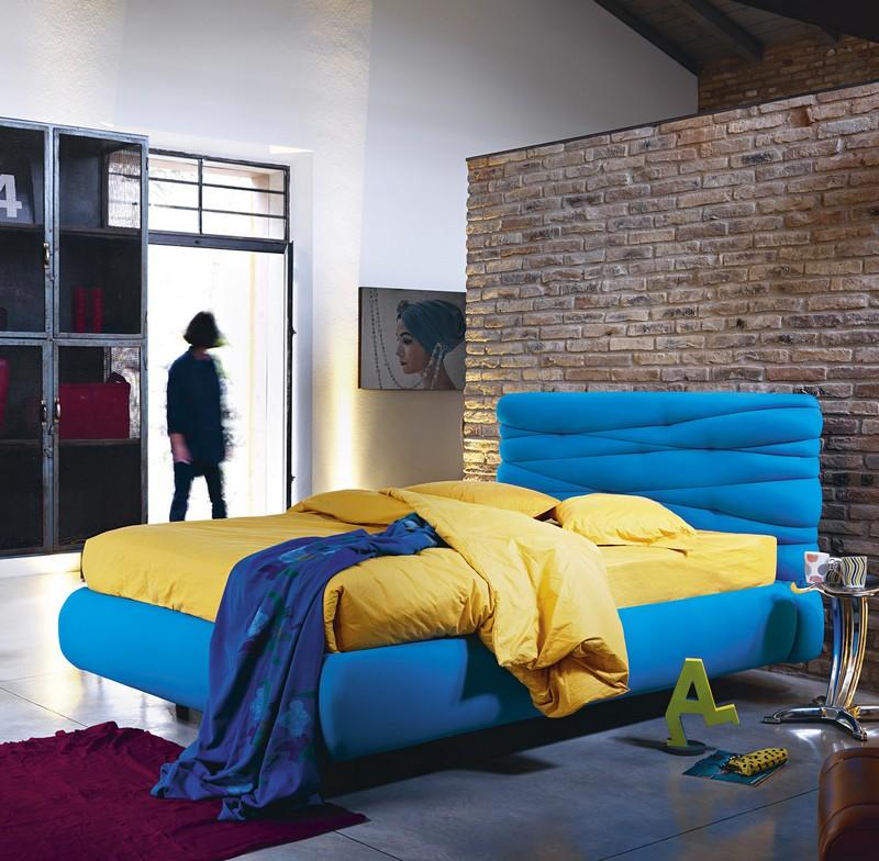 Nowoczesne tapicerowane łóżko Noctis