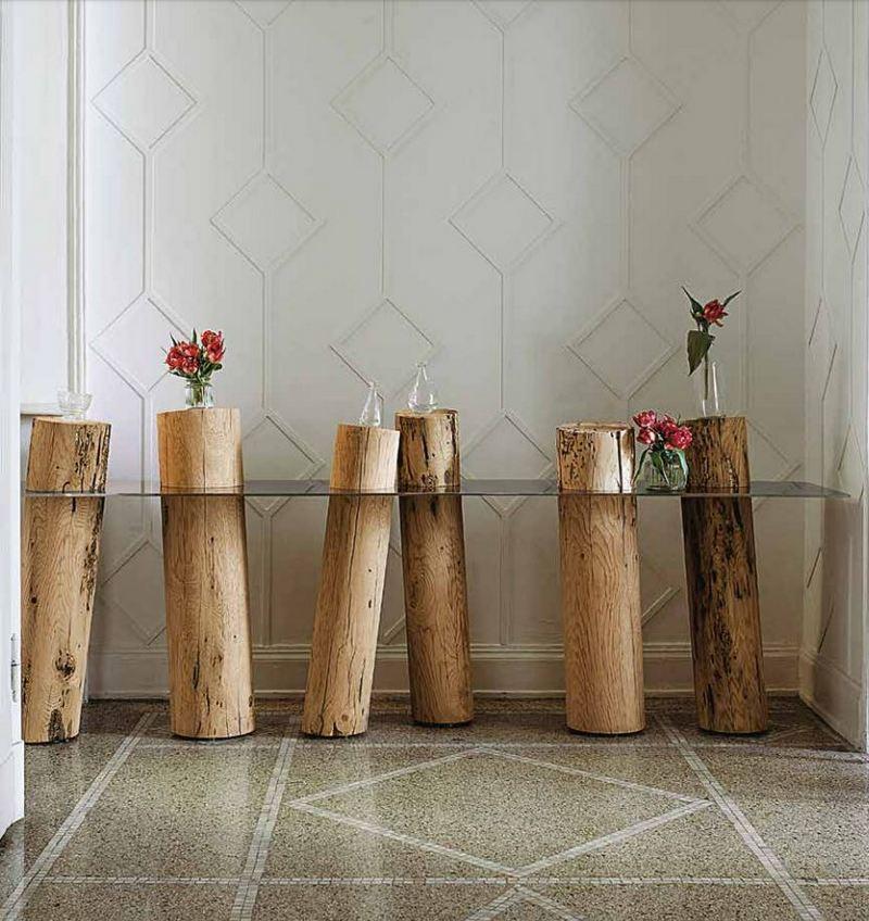 Oryginalne, drewniane nogi od stołu; Riva 1920