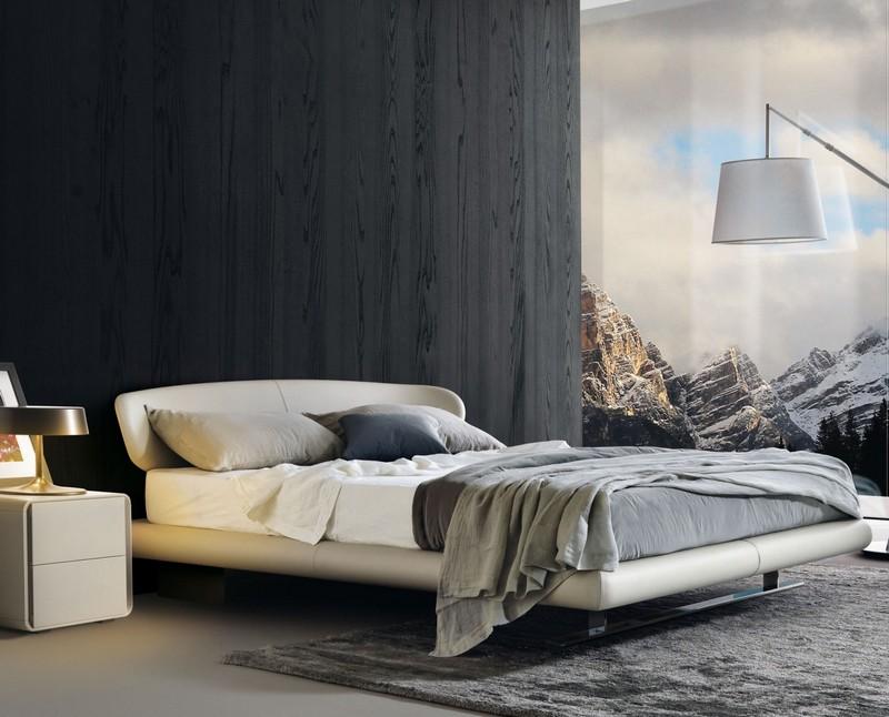 Łóżko z nietypowym wezgłowiem Misura Emme