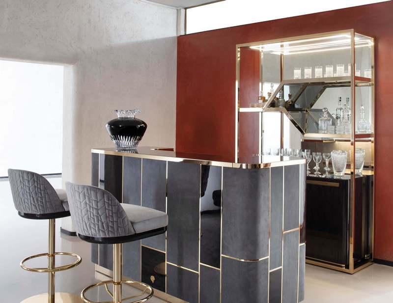 Złote wykończenie mebli Giorgio Collection
