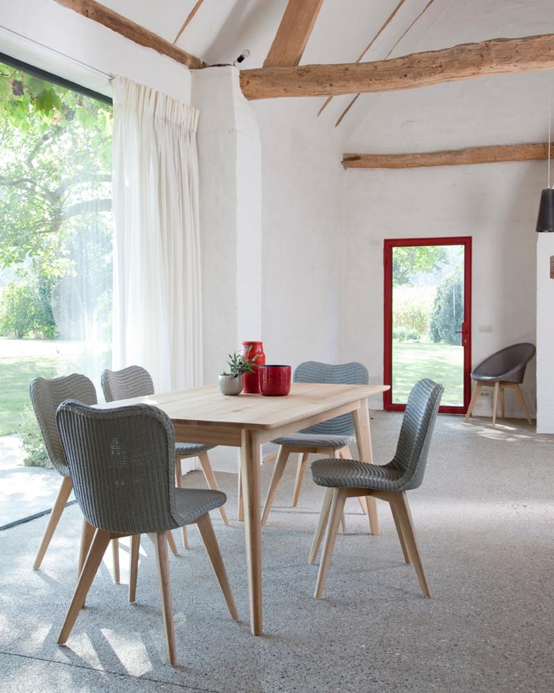 Krzesła do jadalni z plecionym siedziskiem Wyposażenie salonu Vincent Sheppard