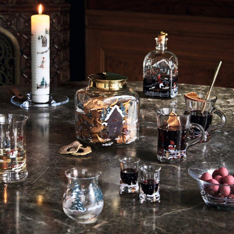 Szklane świąteczne naczynia Holmegaard