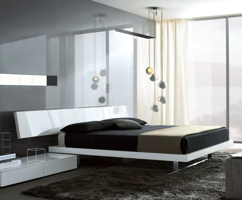 Nowoczesne łóżko platformowe Misura Emme