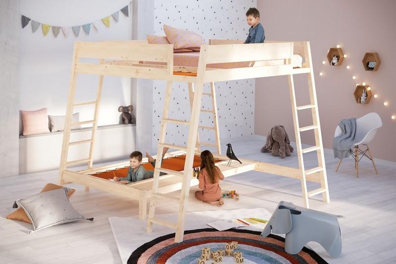 Niezwykłe łóżko piętrowe Mathy by Bols