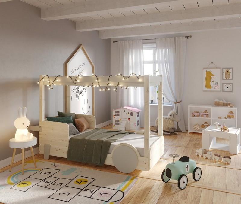 Łóżko chłopięce w kształcie auta Mathy by Bols
