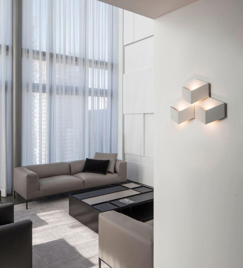 Lampa ścienna geometryczna Vibia