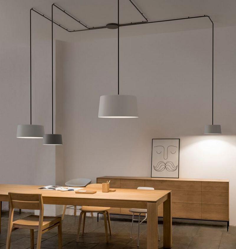 Industrialne oświetlenie do salonu; Vibia