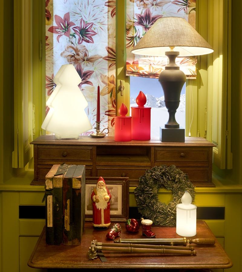 Świecące ozdoby świąteczne Slide Design