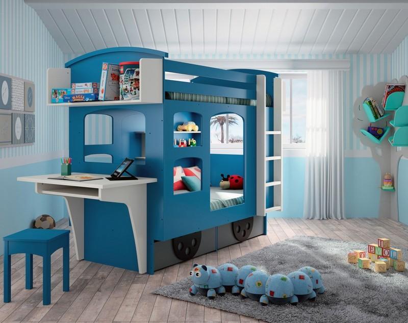 Kreatywna konstrukcja – łóżko z biurkiem; Mathy by Bols
