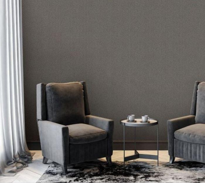 Eleganckie tapety do salonu o strukturze tweedu; Muraspec