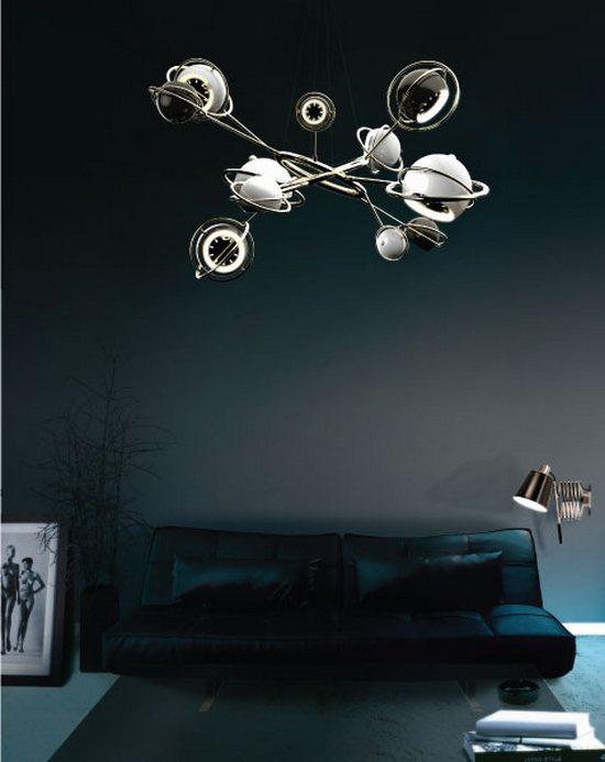 Lampa wisząca inspirowana układem słonecznym Cosmo DelightFULL