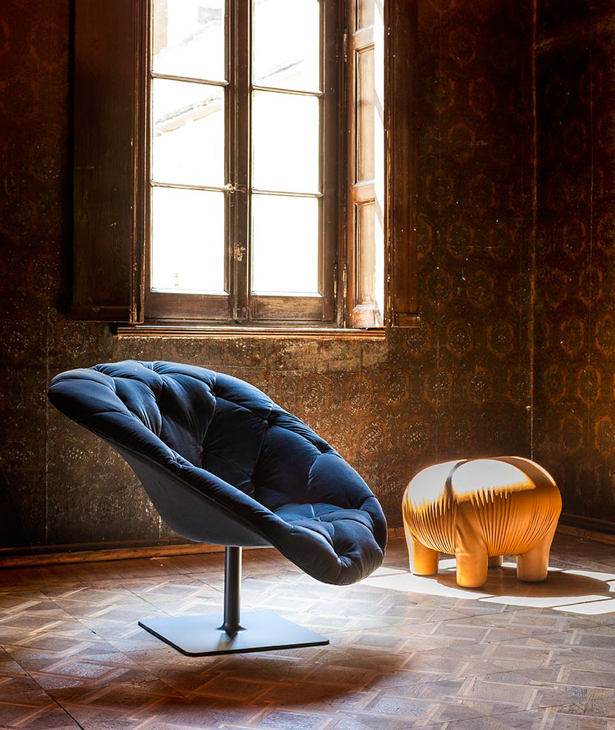 Tapicerowany fotel Bohemian / Moroso