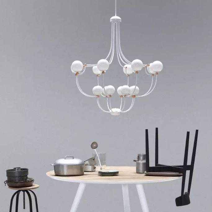 Biała lampa salonowa MM Lampadari