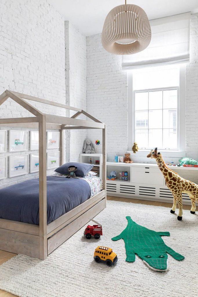 Pokój dziecinny w lofcie; https://www.chango.co/dumbo-loft