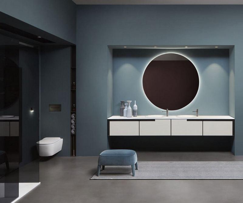 Niebieska łazienka Antonio Lupi