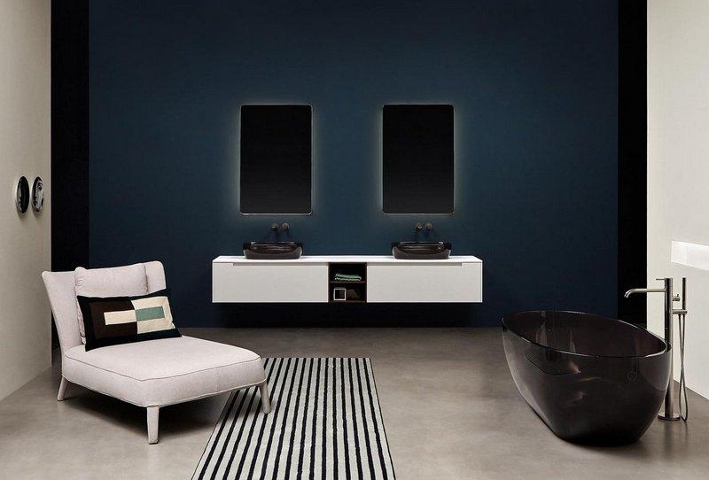 Designerska czarno-biała łazienka Antonio Lupi