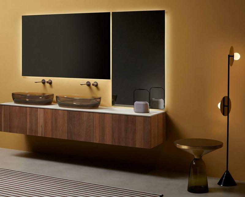 Minimalistyczne meble łazienkowe Antonio Lupi