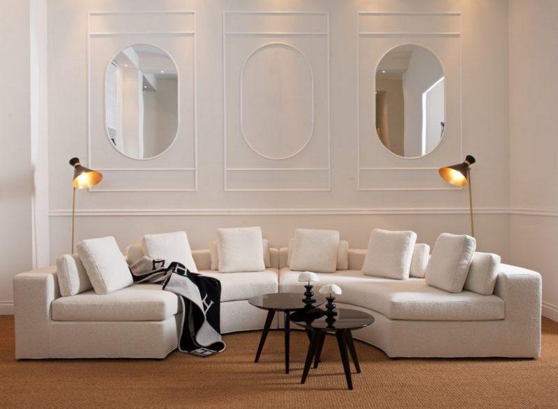 Półokrągła sofa Dom Edizioni